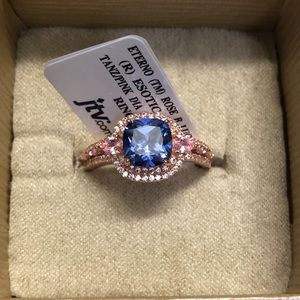 Jewelry - 18k Rose Gold Over Sterling Silver Ring 6.25ctw